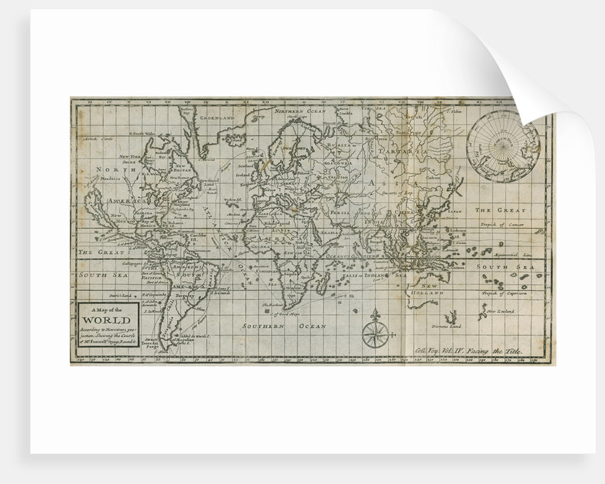 Map of William Dampier's circumnavigation of the world, 1703 by Anonymous