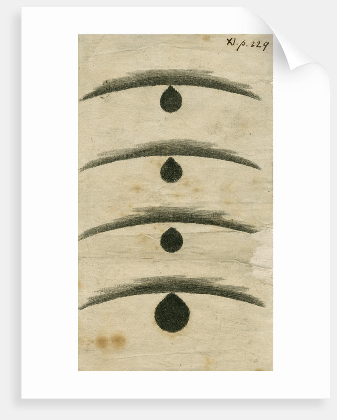 Black drop effect during the 1769 Transit of Venus by William Hirst