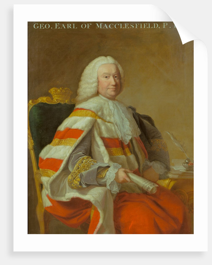 Portrait of George Parker, 2nd Earl of Macclesfield (1697-1764) by Thomas Hudson