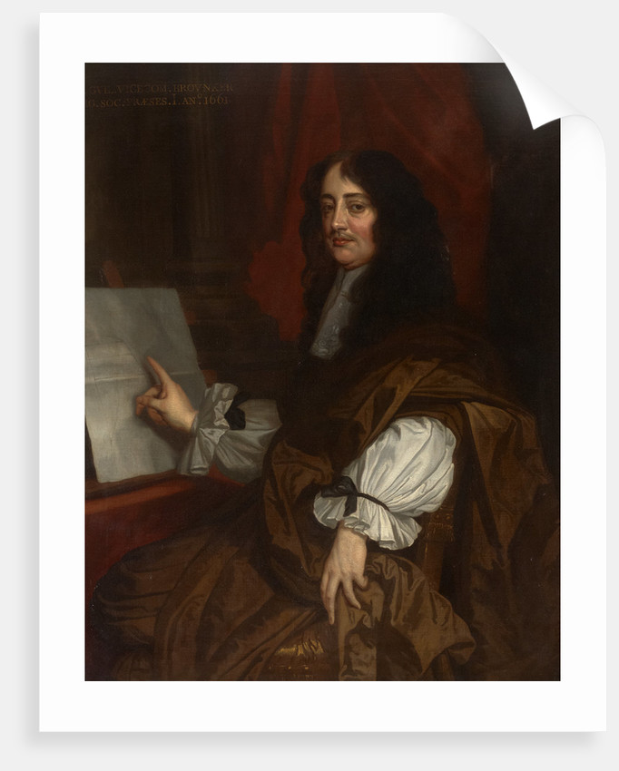 Portrait of William Brouncker, 2nd Viscount Brouncker of Lyons (1620-1684) by Peter Lely
