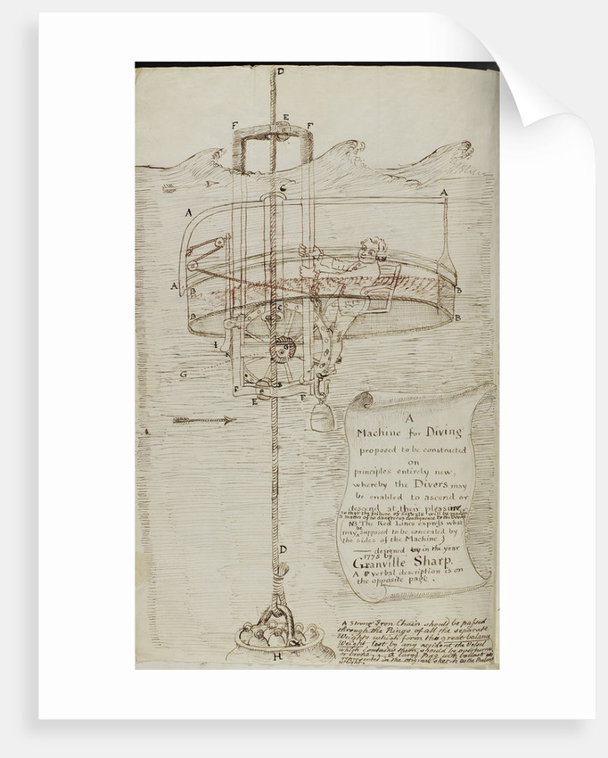 Design for a diving bell by Granville Sharp