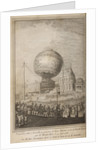 Flight of a Montgolfier balloon by Nicholas Delaunay