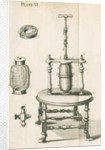 Hauksbee's equipment for pressure experiments by unknown