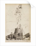 Smeaton's Lighthouse under construction on the Eddystone Rocks by James Record