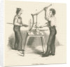 Glassworkers pressing glass by unknown