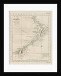 Map of the coast of New Zealand by Barak Longmate