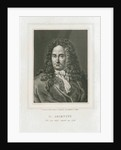 Portrait of Gottfried Wilhelm Leibniz (1646-1716) by Philibert Boutrois Adam
