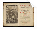 Title page to Nieuhoff's 'An embassy from the East-India Company' by Wenceslaus Hollar