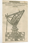 Tycho Brahe's triangular astronomical sextant by Anonymous