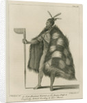 'A New Zealand Warrior in his Proper Dress.' by Thomas Chambers