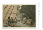 'Interior of a Cree Indian tent, March 25th 1820' by Edward Francis Finden