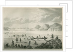 Expedition passing through Point Lata on the ice, June 25 1821 by Edward Francis Finden