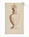 Architectural vase with flames by Anonymous