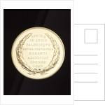 Reverse of the Rumford Medal by Anonymous