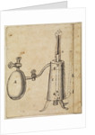 A steam piston engine by Thomas Savery
