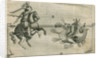 Firework display depicting St George fighting the dragon by Anonymous