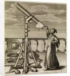 Johannes Hevelius observing through telescope by Johannes Hevelius