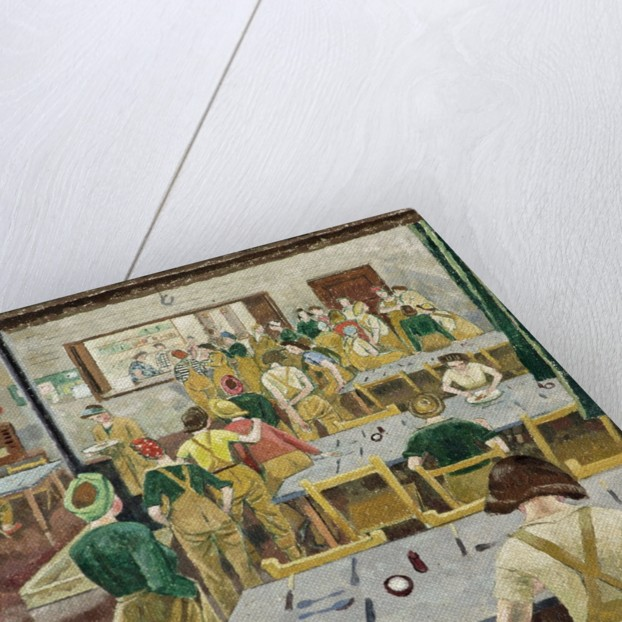 Womens Land Army Hostel by Evelyn Dunbar