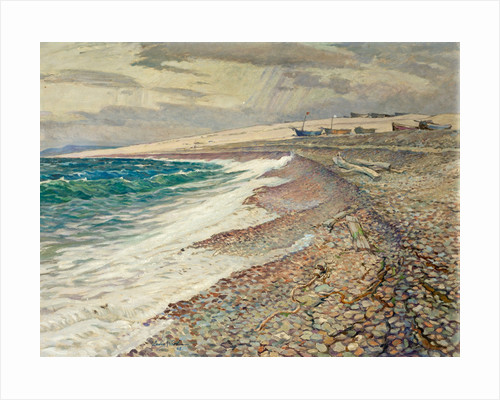 Chesil Beach, Winter by Leslie Moffat Ward