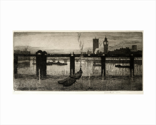 Westminster from the Tate Gallery by Leslie Moffat Ward