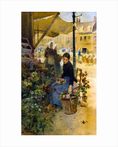Flower Market, Boulogne by Hector Caffieri