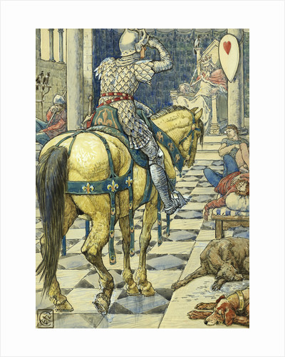 Perceval Obtains the Shield of the Breaking Heart by Walter Crane