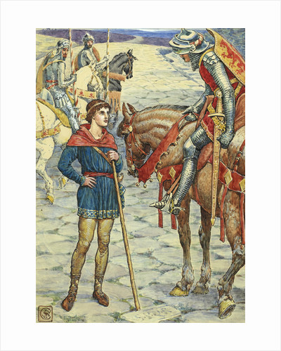 Young Percival Questions Sir Owen by Walter Crane