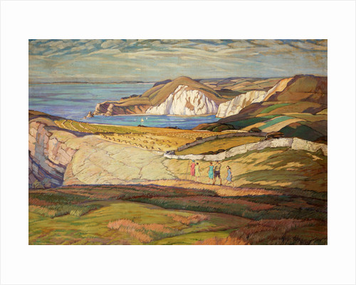 A Dorset Landscape or Near Worbarrow Bay Dorset by Leslie Moffat Ward