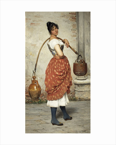 Venetian Water Carrier by Eugene De Blaas