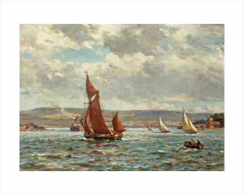 The Purbeck Hills from Poole Harbour, Dorset by Bernard Finnigan Gribble