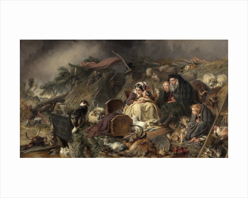 A Highland Flood by Edwin Henry Landseer