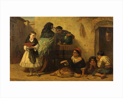 A Street Scene in Spain by Edwin Longsden Long