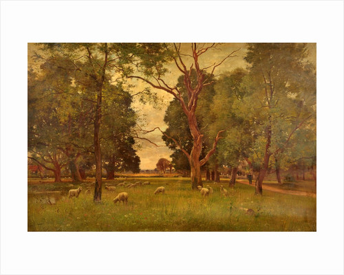 The Old Church Green, Wargrave-on-Thames by Ernest Parton