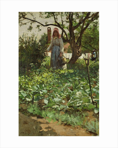 In the Cabbage Patch by John Robertson Reid