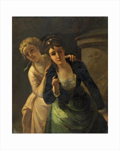 Blonde and Brunette by Heinrich Wilhelm Schlesinger