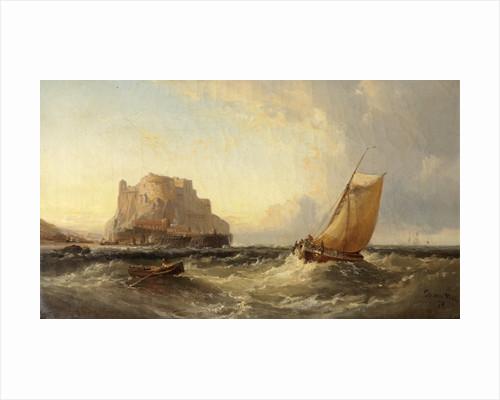 Off the Cornish Coast - St. Michael's Mount by James Webb