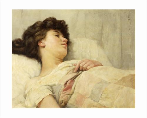 Asleep Under a Patchwork Quilt by William Peter Watson