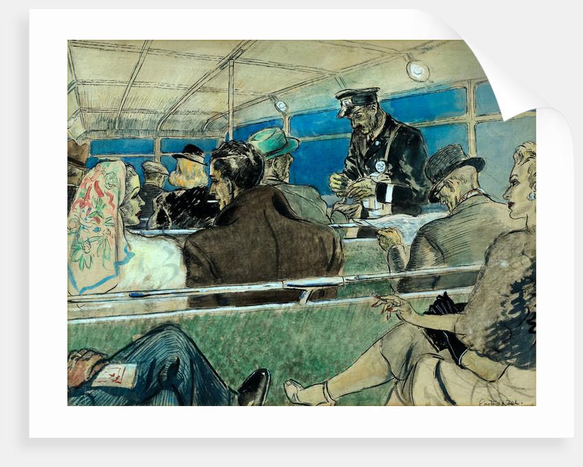 Bus Interior Scene by Eustace Nash