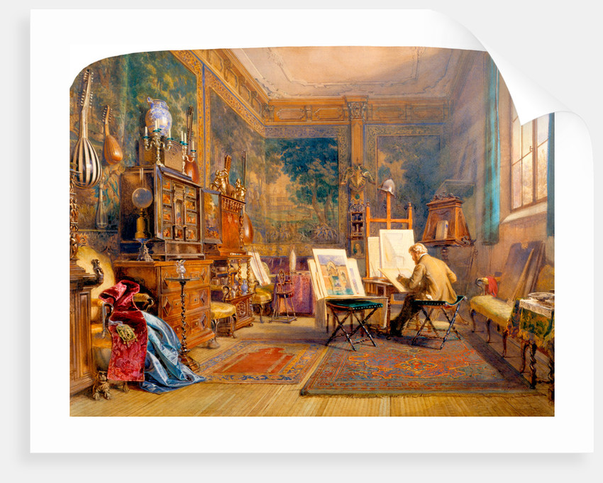 An Artist at Work in his Studio by Carl Werner