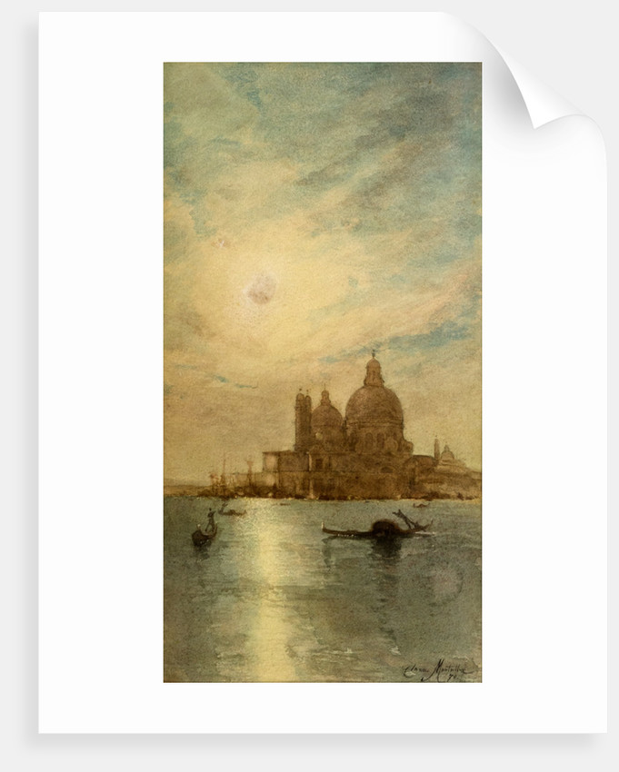 A Bit of Venice or Venice, The Salute by Clara Montalba