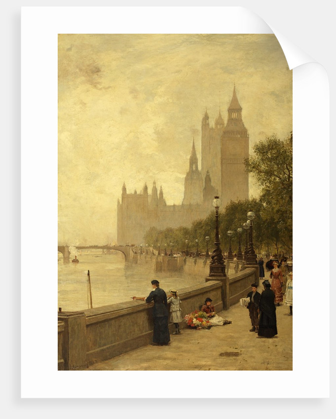 The Thames Embankment by James Aumonier