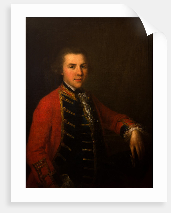 Portrait of a Young Officer in the Cheshire Militia, circa 1760 by Anonymous