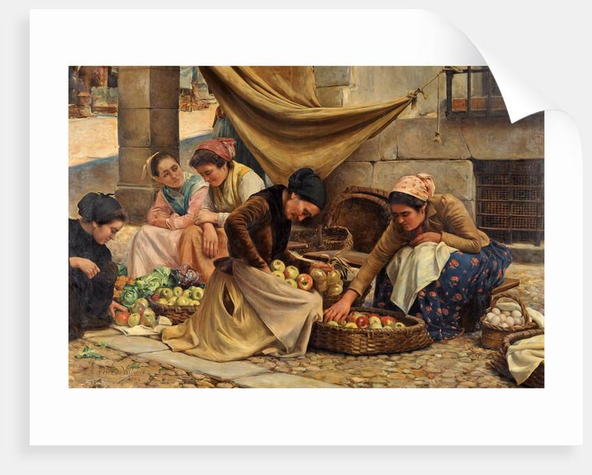 Spanish Market Women at Bilbao by Eusebio Perez de Valleurca