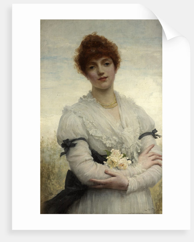 An English Girl (The Wife of the Artist) by Luke Fildes