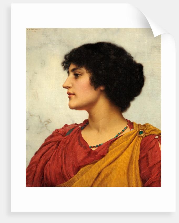 An Italian Girl's Head by John William Godward