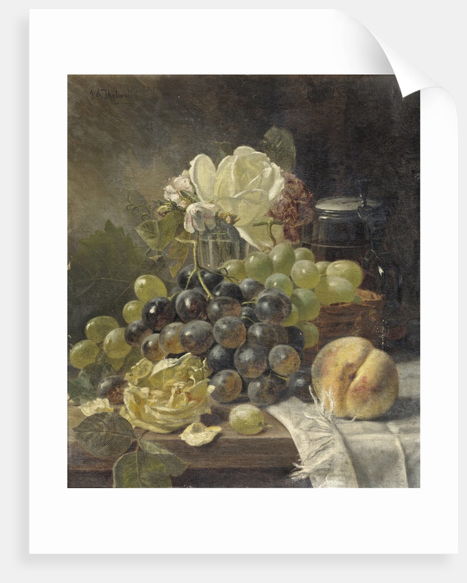 Still Life with a Rose by J. A. Thelwall