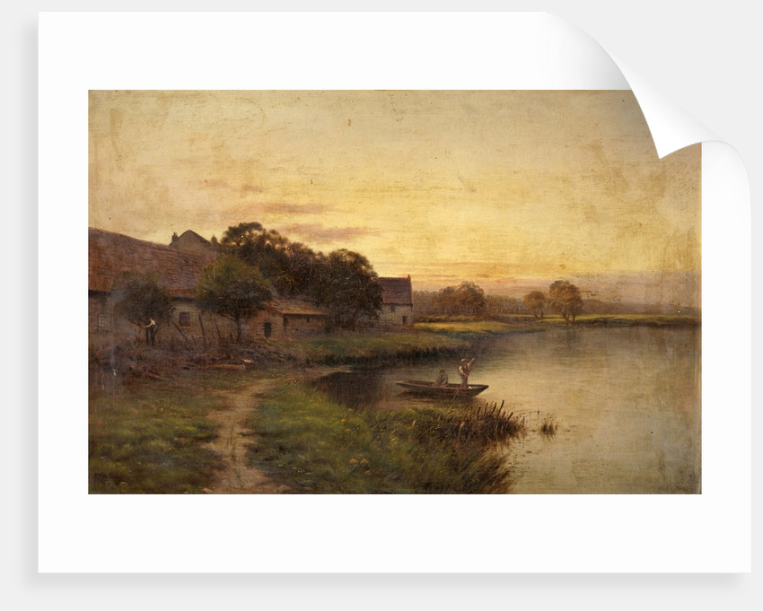 River Scene with a Punt by B. T. Bradbury