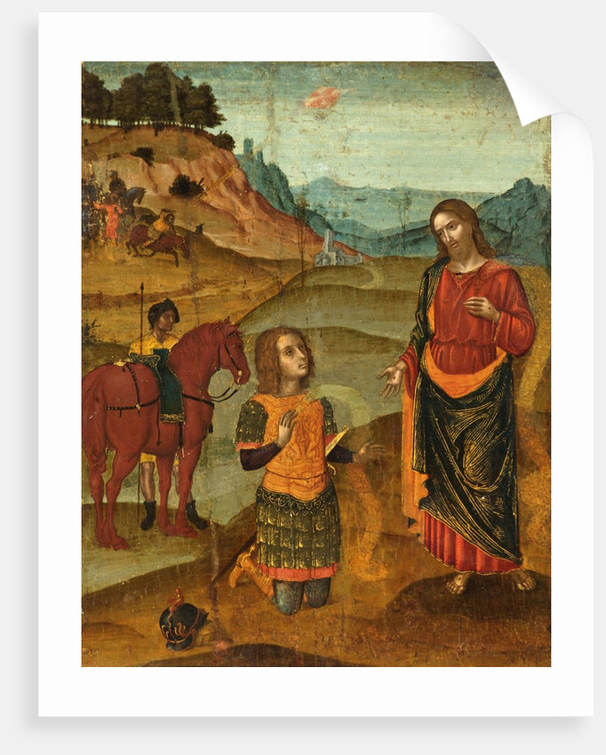Christ Appearing to St. Paul by Northern Italian School
