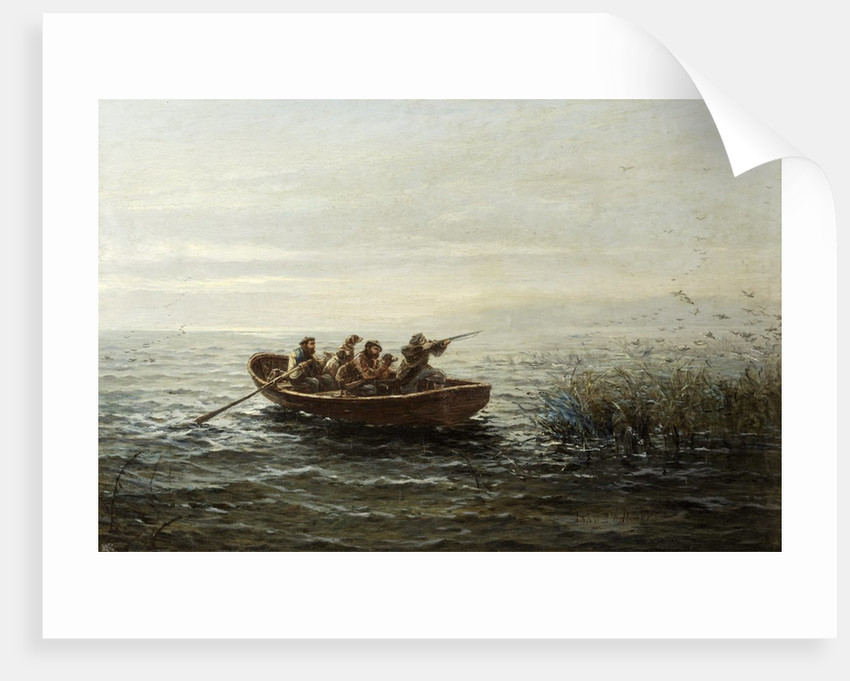 Wild Duck Shooting, Loch Ranze by John Chalmers