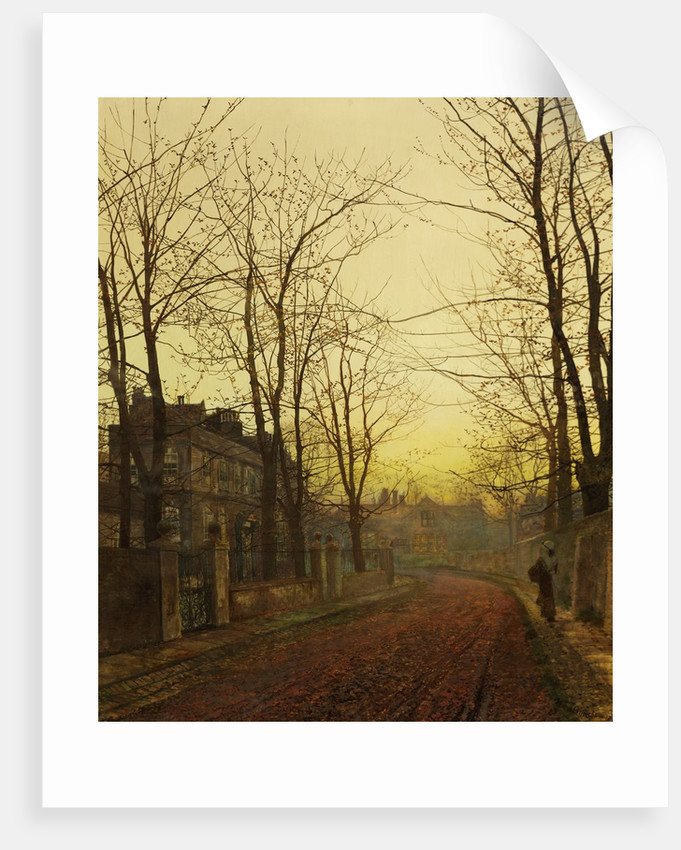 An Autumn Idyll by John Atkinson Grimshaw
